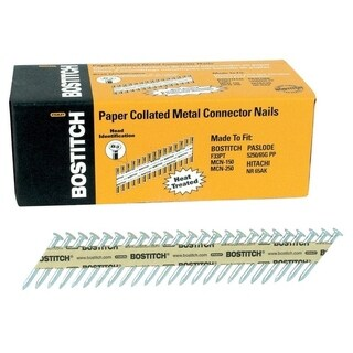 Stanley Bostitch StrapShot 1-1/2 in. x .131 in. L Brite Metal Connector Nails 1,000 pc.