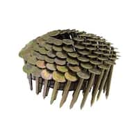 National Nail  Pro-Fit  1-1/2 in. L .120 Ga. Electrogalvanized  Coil  Roofing Nails  7200 pk