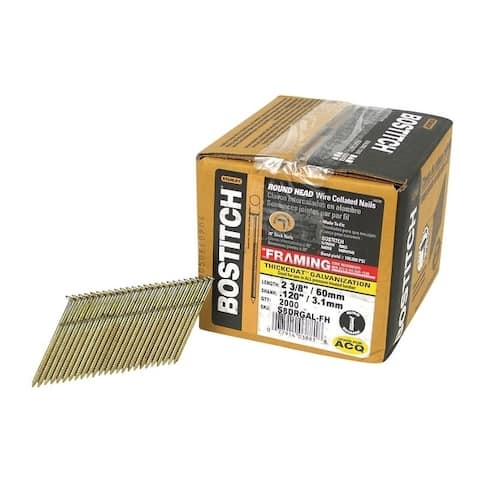 Stanley Bostitch 2-3/8 in. x .120 in. L Galvanized Stick Framing Nails 2,000 pc.