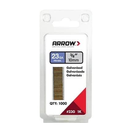 Arrow 3/8 in. L 23 Ga. Galvanized Trim Pin Nails 1,000 pk