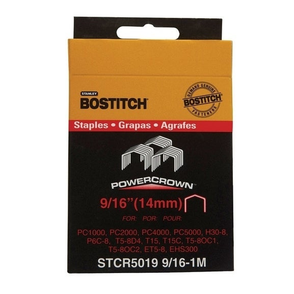 Stanley-Bostitch Power Crown Staples Gray 9/16 in. L