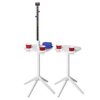GoSports ScoreCaddy Outdoor Game Score Keeper & Drink Stand Set, White