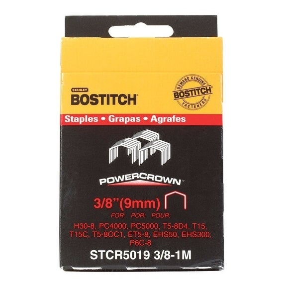 Stanley-Bostitch Power Crown Staples Gray 3/8 in. L