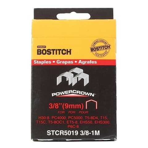 Stanley Bostitch Power Crown Staples Gray 3/8 in. L