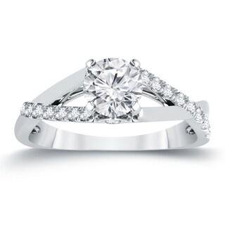 Auriya 14k Gold 3/4ct TDW Diamond Braided Style Engagement Ring