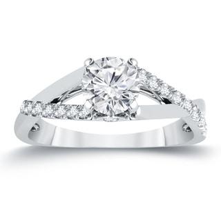 Auriya 14k Gold 1ct TDW Diamond Braided Style Engagement Ring - White H-I