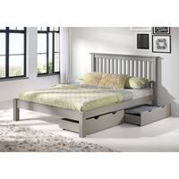 Girona Queen Bed with Storage Drawers, Dove Gray