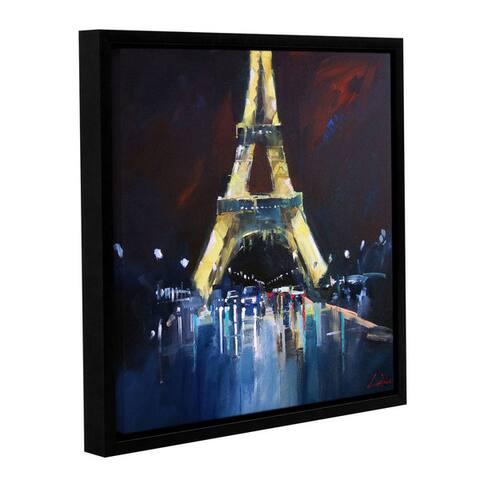 Craig Trewin Penny's Eiffel Rain, Gallery Wrapped Floater-framed Canvas