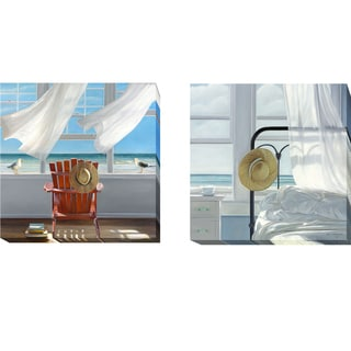 Lookout and Sand in the Sheets by Karen Hollingsworth 2-piece Gallery-Wrapped Canvas Giclee Art Set