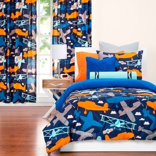 Link to Crayola Take Flight Airplane 3-piece Comforter Set Similar Items in Window Treatments