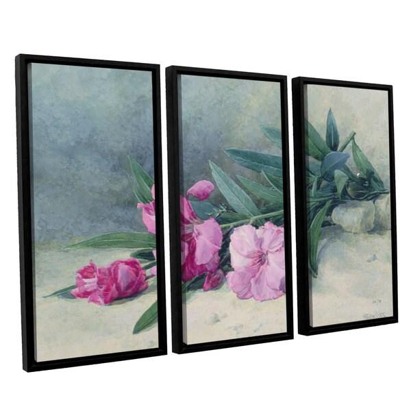 Shop Mary E Butler Oleander Blossom 3 Piece Floating Framed Canvas