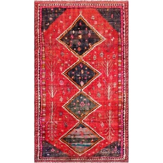 """Pasargad Vintage Shiraz Collection Hand-Knotted Wool Rug (4' 6"""" X 9' 0"""")"""