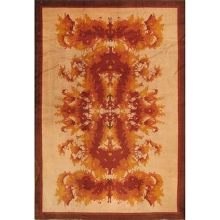 "Pasargad Antique Art Deco Collection Hand-Knotted Wool Rug (11' 6"" X 16' 6"")"
