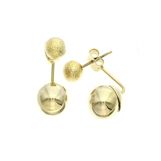 """Isla Simone """"Day and Night"""" 14K Gold Plated Small Bead Earrings"""