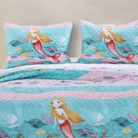 Mermaid Quilted Pillow Sham Set (set of 2)