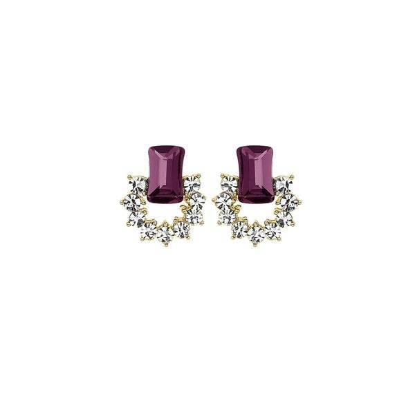 0cee3d1f1 Shop Isla Simone 14K Gold Plated White and Antique Pink Open Circle Earrings,  Made with Swarovski Crystals - Free Shipping On Orders Over $45 - Overstock  - ...