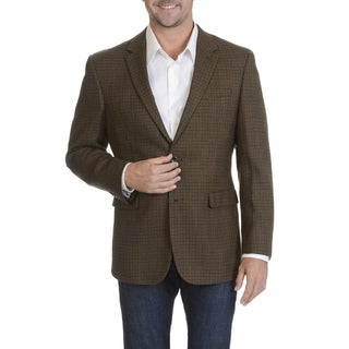 Prontomoda Europa Men's Brown Lamb's Wool Sportcoat