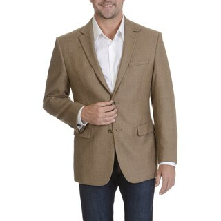 Prontomoda Europa Men's Tan Lamb's Wool Textured Sportcoat