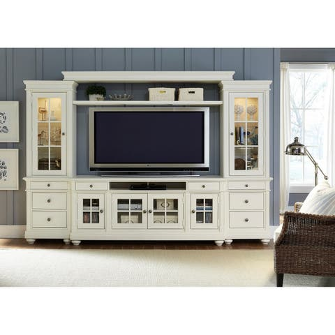 Harbor View Linen 62-Inch 4-Piece Entertainment Center