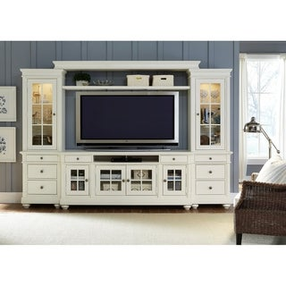 Liberty Harbor View Linen Wood 74 Inch 4 Piece Entertainment Center