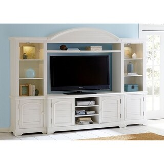 Summer House Oyster White 4-piece Entertainment Center