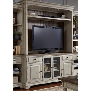 Link to Morgan Creek Antique White and Tobacco 2-Piece Entertainment Center Similar Items in Media Cabinets