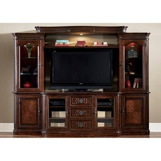 Andalusia Entertainment Vintage Cherry 4-Piece Entertainment Center