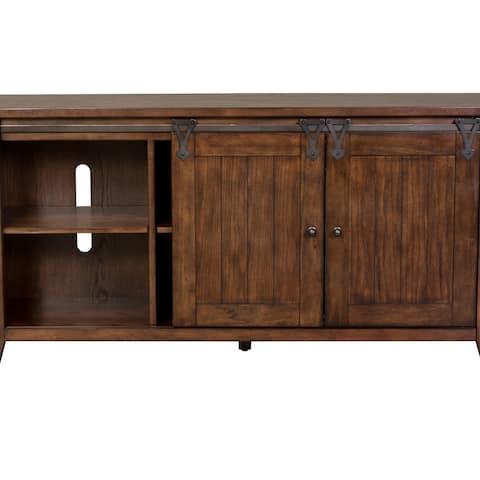 Lake House Rustic Brown Oak 60-Inch TV Console