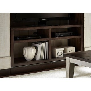 Lancaster Weathered Bark and White Two-Tone 55-Inch TV Stand
