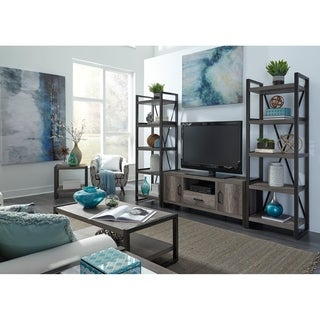 Tanners Creek Distressed Floating Design Greystone 5-Shelf Tall Pier Unit
