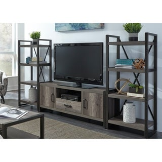 Tanners Creek Greystone Distressed 4-Shelf 3-Piece Entertainment Center
