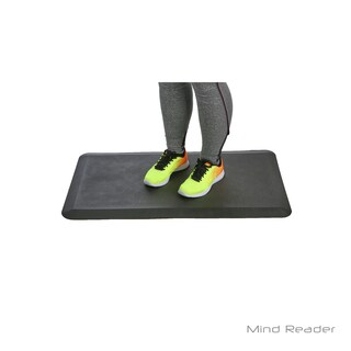 Mind Reader Anti-Fatigue Comfort Standing Desk Floor Mat, Black