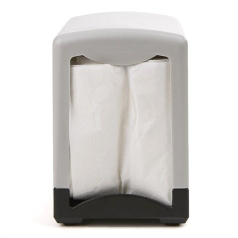 """Mind Reader 2 Pack 7"""" Interfold Table Top Napkin Dispenser, Black"""