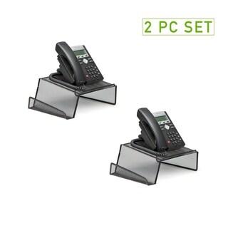 Mind Reader Metal Mesh Phone Stand, Black, 2 pack
