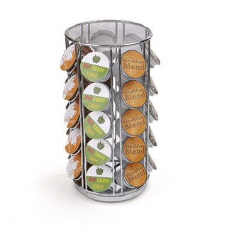 Mind Reader 35 Capacity Rotating Metal K-Cup Carousel, Silver|https://ak1.ostkcdn.com/images/products/18107108/P24263525.jpg?_ostk_perf_=percv&impolicy=medium
