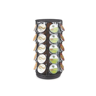Mind Reader 35 Capacity Rotating Metal K-Cup Carousel, Black