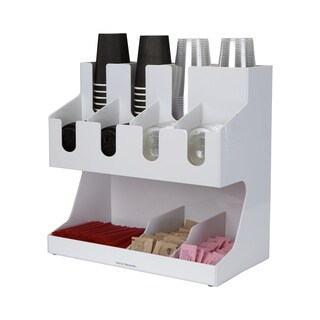 Mind Reader 'Fancy' Acrylic Jumbo Coffee/Tea Condiment organizer, White