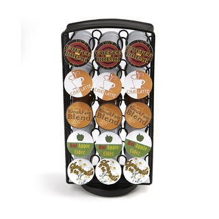 Mind Reader Metal Mesh Coffee Pod K-Cup Carousel, Holds 30, Black