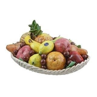 Authentic Italian Capodimonte assorted fruit basket