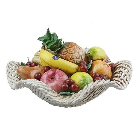 Authentic Italian Capodimonte large fruit basket