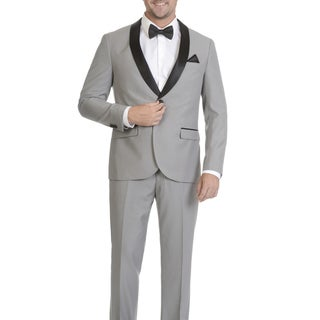 West End Men's Slim Fit Shall Collar Satin-Detailed Tuxedo (Option: 48s)