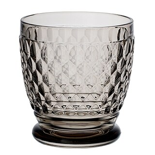 Villeroy & Boch Boston Smoke Crystal Double Old-Fashioned Glasses, Set of 4