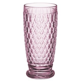 Villeroy & Boch Boston Rose Crystal Highball Glasses, Set of 4