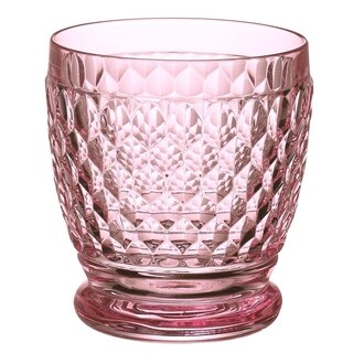 Villeroy & Boch Boston Rose Crystal Double Old-Fashioned Glasses, Set of 4