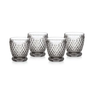 Villeroy & Boch Boston Clear Crystal Double Old-Fashioned Glass, Set of 4
