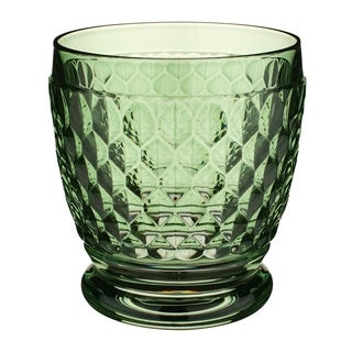 Villeroy & Boch Boston Green Crystal Double Old-Fashioned Glasses, Set of 4