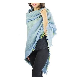 Le Nom Stripe Stitch Point Knit Blanket Scarf