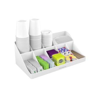 Mind Reader 'Pioneer' 11 compartment Coffee/ Tea Condiment Organizer, White