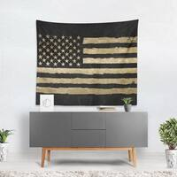 Oliver Gal 'Rocky Freedom Noir' Wall Tapestry