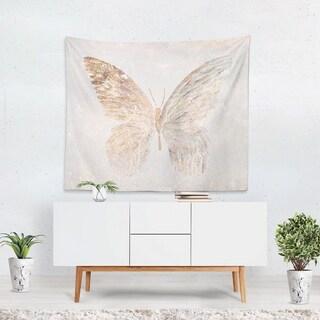 Oliver Gal 'Golden Butterfly Glimmer' WallTapestry